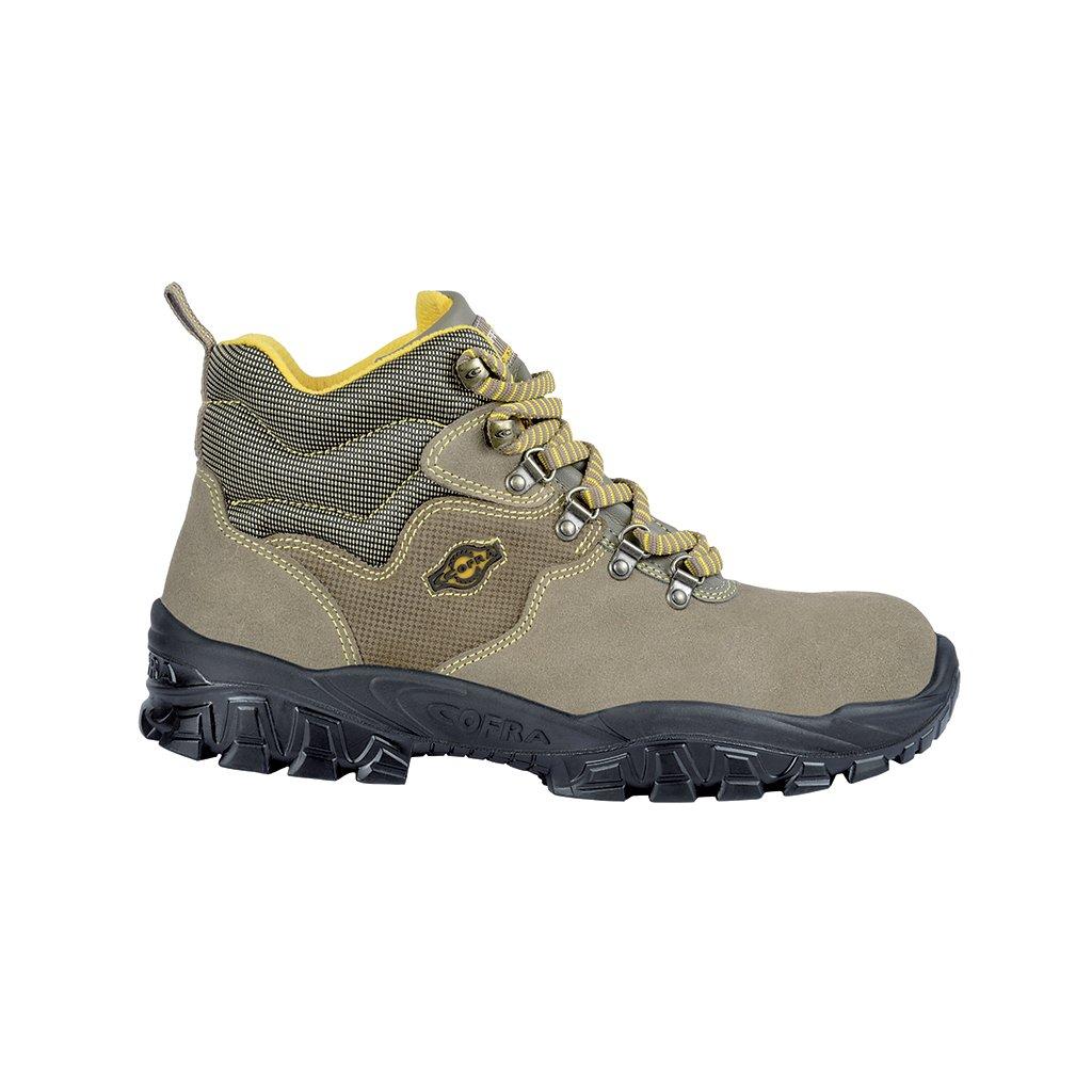 Bezpečnostná členková obuv s oceľovou špičkou COFRA NEW TEVERE S1 P SRC : TALIANSKÁ VÝROBA (Veľkosť 48)