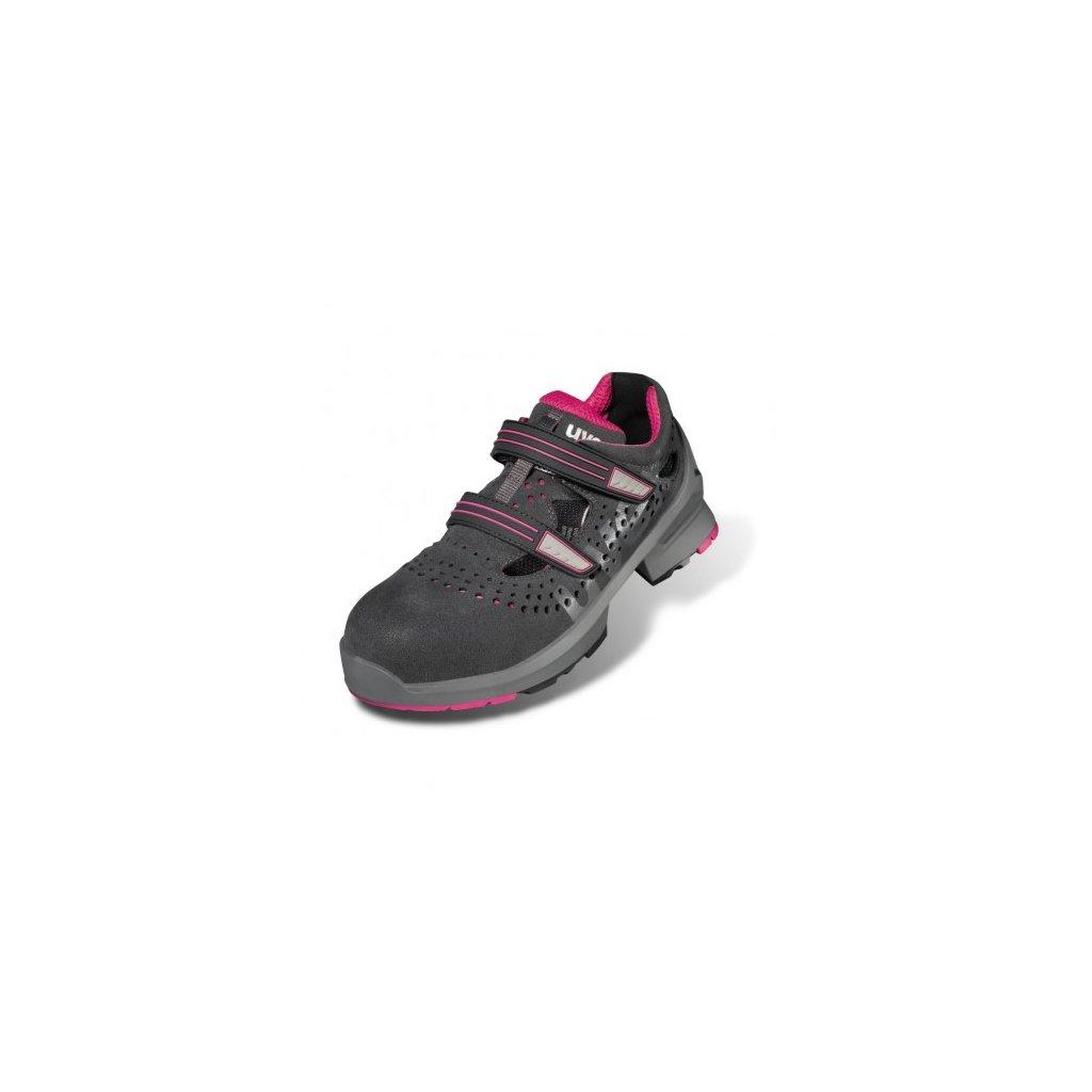Dámske pracovné sandále S1 s bezpečnostnou špičkou a protišmykovou  podrážkou UVEX 8560 S1 SRC Ladies ( ad43f23ad60