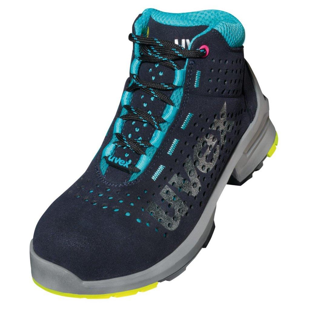 Moderná členková ESD dámska  pracovná obuv s bezpečnostnou špičkou UVEX 8563  S1 SRC (Veľkosť 43)