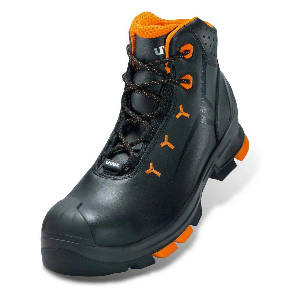 950a195cbee17 členková bezpečnostná obuv s plastovou špičkou uvex 2 S3 SRC lace up boot