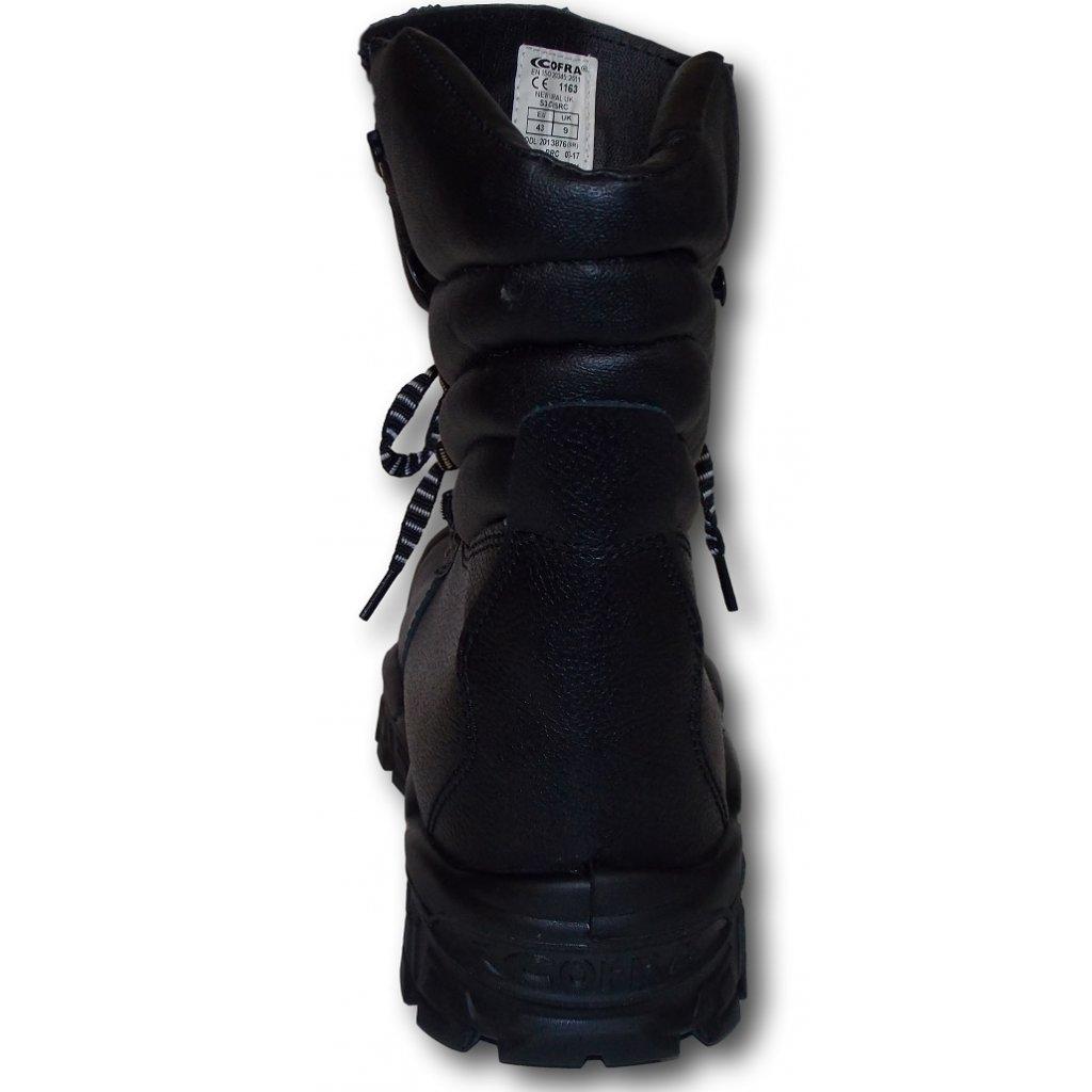 010956d6c23a0 ... Vysoká zateplená kožená pracovná obuv s oceľovou špičkou NEW URAL UK S3  CI SRC detailný zadný ...