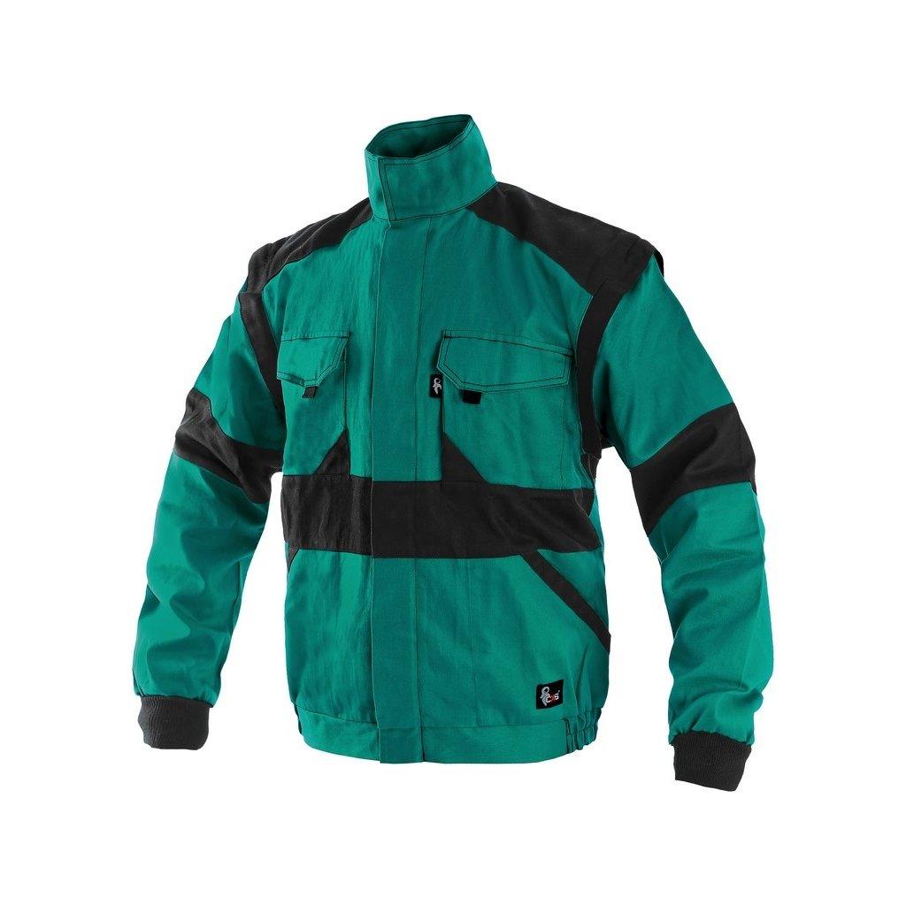 Montérková blúza zeleno čierna LUXY EDA 8ba1639af1