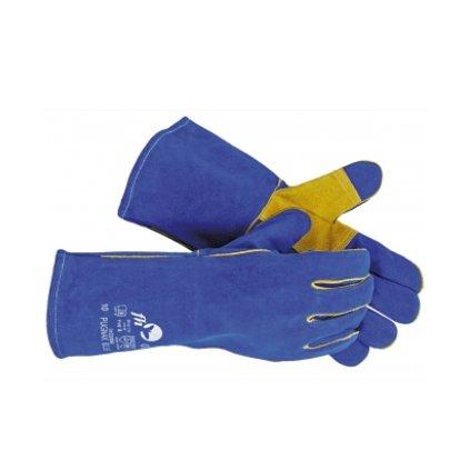ec38436f971 CRV PUGNAX BLUE - CELOKOŽENNÉ OCHRANNÉ RUKAVICE