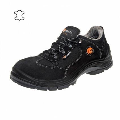ALBA : Pracovná obuv C33 01 Black - Talianska výroba (Veľkosť 48, Farba čierna)