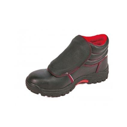 Bezpečnostná zváračská obuv s oceľovou špičkou a planžetou proti prierazu  STEELER WELDER ANKLE S3 HRO (Farba čierna, Veľkosť 36)