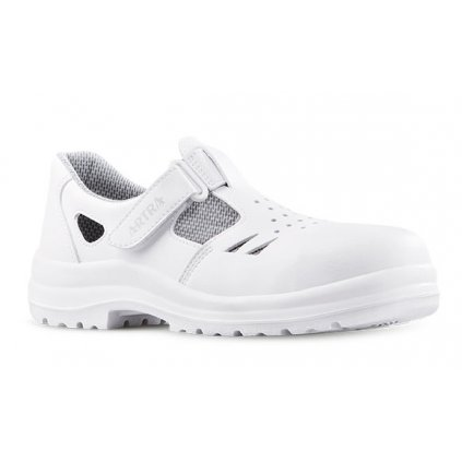 917516014f12 Biele bezpečnostné sandále s oceľovou špičkou ARMEN 9008 1010 S1 SRC  (Veľkosť 48)