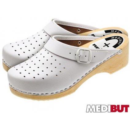 Dreváky ortopedické značky MEDIBUT : BMDREDZPA (Farba Biela, Veľkosť 41)