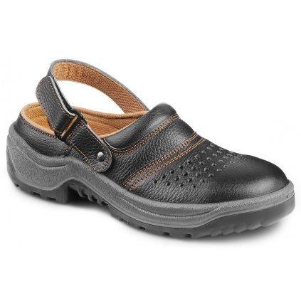 Čierne bezpečnostné sandále s oceľovou špičkou ARNO 901 AIR 6060 SB A E SRC (Veľkosť 48)