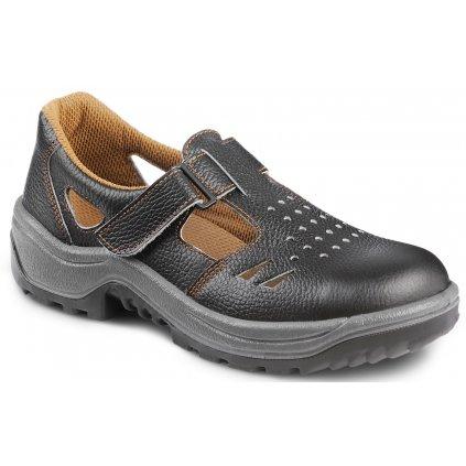 Čierne pracovné sandále bez oceľovej špičky  ARMEN 900 6060 O1 FO SRC (Veľkosť 48)