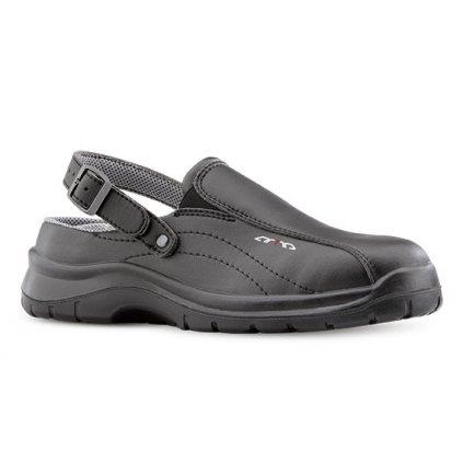 Čierne pracovné sandále bez oceľovej špičky  ARVA 601 6660 OB A E FO SRC (Veľkosť 48)