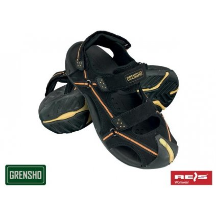 Sandály značky GRENSHO (Veľkosť 45, Farba čierna)