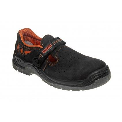 ZS - BNN LUX: Sandále S1P Non Metallic  Z91004 (Veľkosť 48, Farba čierna)