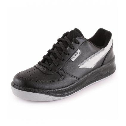 Čierne štýlové športové poltopánky PRESTIGE M86808 (Veľkosť 49)