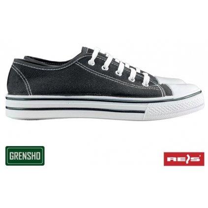Trampky rekreačné značky GRENSHO black (Veľkosť 47, Farba čierna)