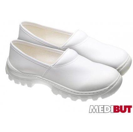 Zdravotnícka obuv značky MEDIBUT : W40 (Farba Biela, Veľkosť 46)