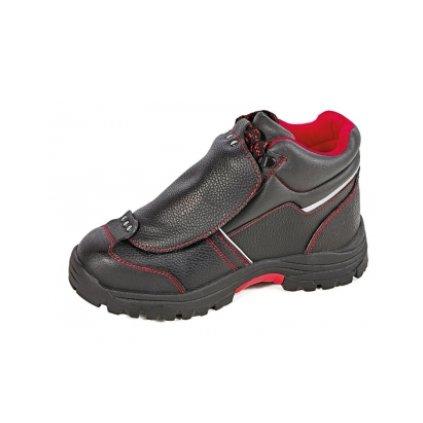 Členková bezpečnostná zváračská obuv s oceľovou špičkou a planžetou proti prierazu STEELER METATARSAL ANKLE S3 HRO (Farba čierna, Veľkosť 36)