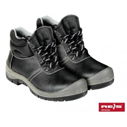 Členková pracovná obuv celoročná znaćky REIS - BLUK (Veľkosť 47, Farba čierna)