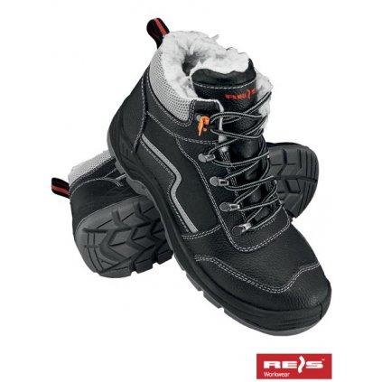 RW00 - BRYETI Zateplená pracovná obuv (Veľkosť 47, Farba čierna)