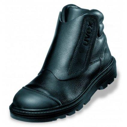 Zváračská bezpečnostná obuv pre profesionálne využívanie s bezpečnostnou špičkou UVEX ORIGIN 8463 S2 CI HI HRO SRC (Veľkosť 48)