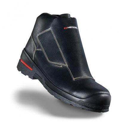 Zváračská kožená bezpečnostná obuv s nekovovou bezpečnostnou špičkou HECKEL MACSOLE 1.0 WLD LOW 6264007 (Farba čierna, Veľkosť 36)