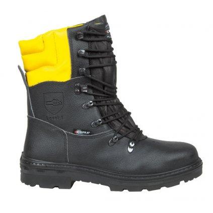 Kvalitná pilčícka bezpečnostná obuv aj do náročných podmienok s bezpečnostnou špičkou a planžetou proti prierazu COFRA WOODSMAN BIS A E P FO WRU SRC : TALIANSKÁ VÝROBA (Veľkosť 47)