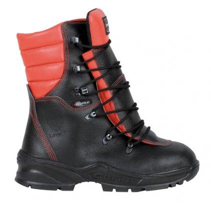Pilčícka bezpečnostná kožená obuv s ochranou proti porezu z vodoodpudivej kože COFRA FORCE A E P FO WRU HRO SRC : TALIANSKÁ VÝROBA (Veľkosť 48)