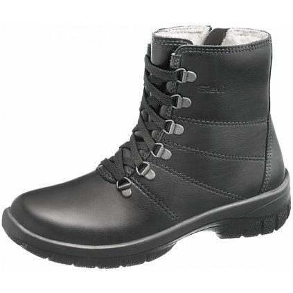 Zimné kožené pracovné zateplené čižmy AURORA (Veľkosť 43, Farba čierna)