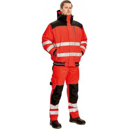 Pánska zimná pracovná bunda Knoxfield HI VIS PILOT