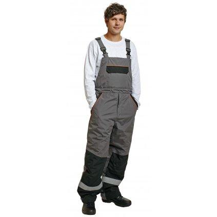 Pánske zimné pracovné nohavice s náprsenkou EMERTON