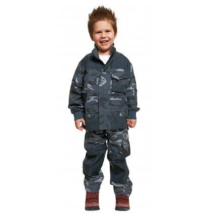 Detská pracovná bunda EMERTON CAMOUFLAGE KIDS