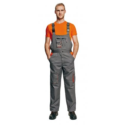 Pánske pracovné nohavice s náprsenkou DESMAN