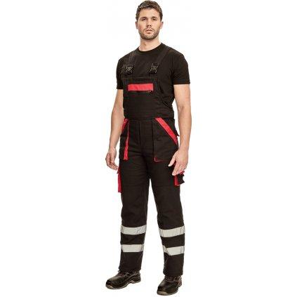 Pánske pracovné nohavice s náprsenkou MAX WINTER RFLX