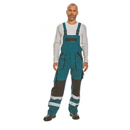 Pánske pracovné nohavice s náprsenkou MAX RFLX