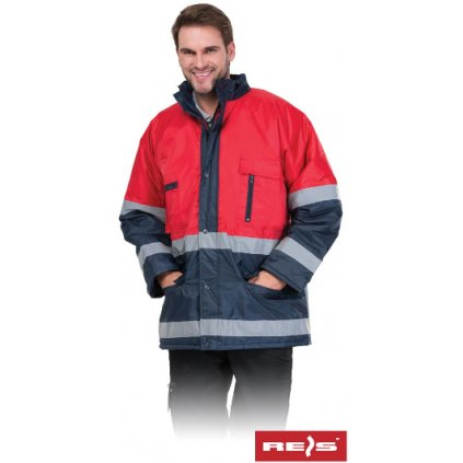 Zimná bunda s reflexnými pruhmi Blue RED GC