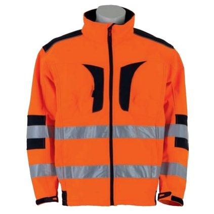 Softshellová bunda Warnbau Softshelljacke orange