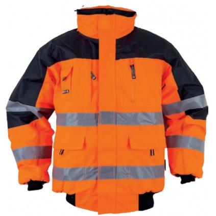 Reflexná bunda Warnbau Pilotenjacke orange 68447