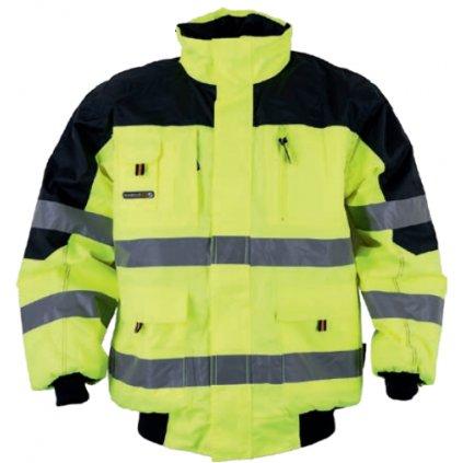 Reflexná bunda Warnbau Pilotenjacke gelb1