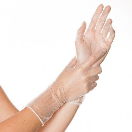 vinylové rukavice ideal long