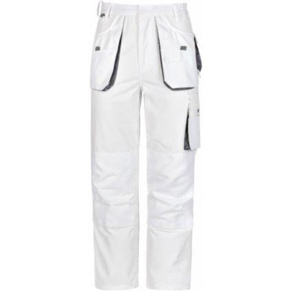 Pracovné nohavice do pása power biele