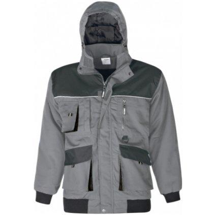 zimná bunda power sivá