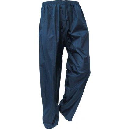 Dažďové nohavice, modre, pohľad spredu