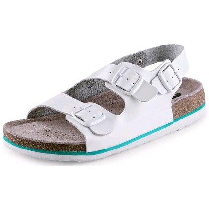 Obuv sandál CXS CORK MEGI, dámsky, s opaskom, biely, veľ. 41