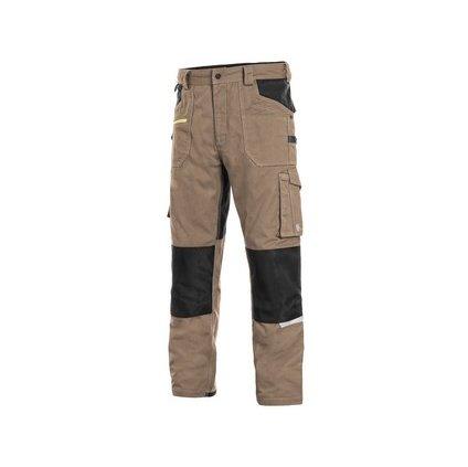 Nohavice CXS STRETCH, pánske, béžovo-čierne, veľ. 64
