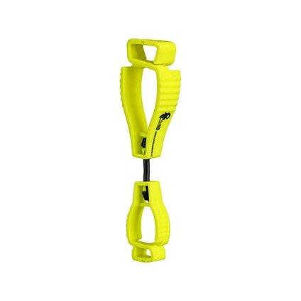 Klip pre zavesenie drobných predmetov na odev, reflexná žltá