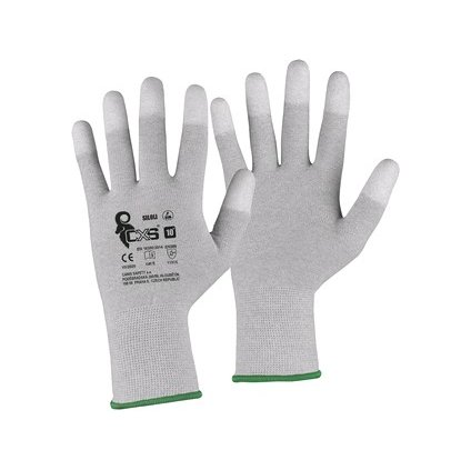 Plátené pracovné  antistatické rukavice  CXS SILOLI