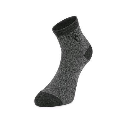 Tmavo šedé ponožky  CXS PACK II - 3 páry