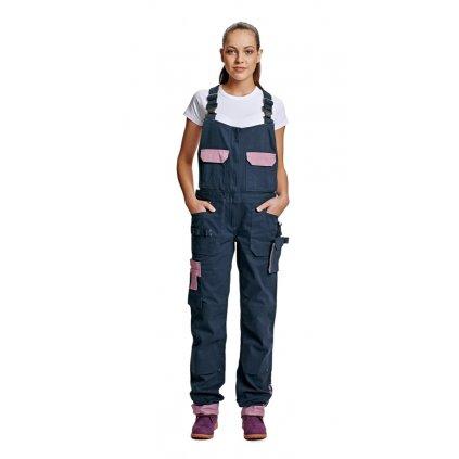 CRV YOWIE: Dámske pracovné nohavice s náprsenkou - 0302 0208 39