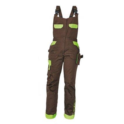 CRV YOWIE: Dámske pracovné nohavice s náprsenkou - 0302 0208 87