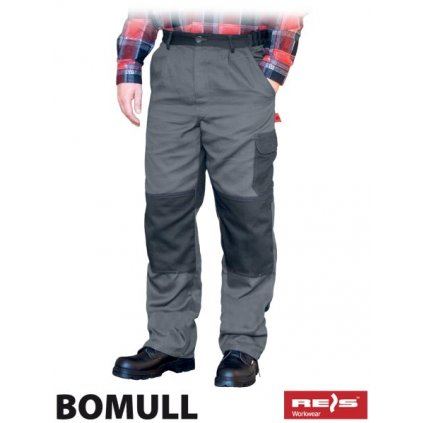 RAW BOMULL: Pracovné montérky do pása BOMULL-T SDS