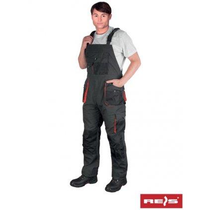 RAW FORECO: Pracovné nohavice s náprsenkou FORECO-B SBP